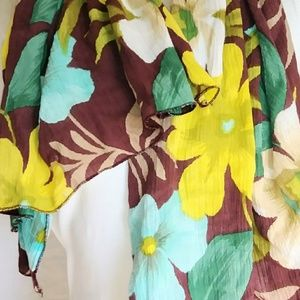 HAWAIIAN Floral Wrap Scarf #hundredsofscarves
